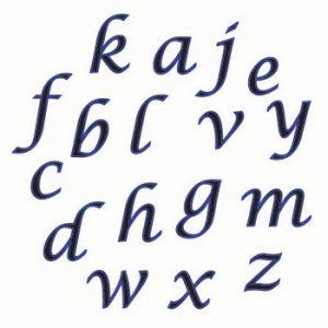 """Buchstaben Tappit """"Script"""", klein"""