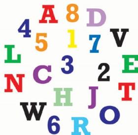 Alphabet & Numbers Set, gross