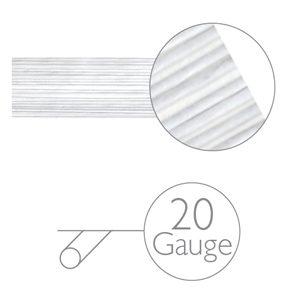 Blumendraht weiss - 20 gauge