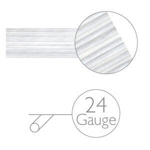 Blumendraht weiss - 24 gauge