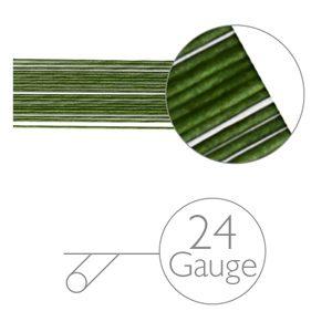 Blumendraht grün - 24 gauge