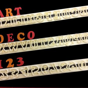 "Buchstaben ""Art Deco"" - gross"