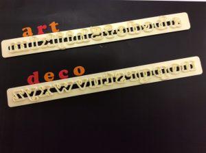 """Buchstaben """"Art Deco"""" - klein"""