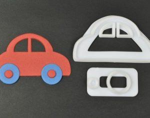 """Ausstecher """" Cute Car"""" von FMM"""