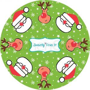 "Cupcakeförmchen ""Santa"""