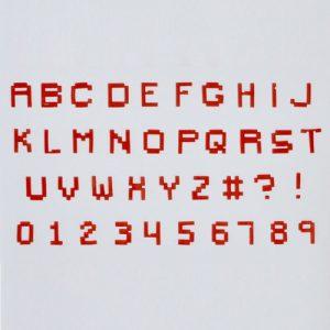 """Buchstaben """" Pixels """""""