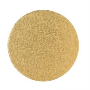 Cakeboard, rund 30 cm, gold