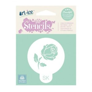 """Art Ice Stencil - rund """"Single Stem Rose"""""""