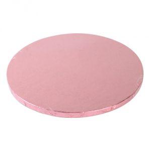 Cakeboard, rund 30 cm, rosa